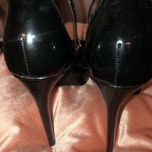 Steve Madden Shoes - VTG- Steve Madden Black Peep To Patent Heels